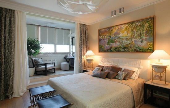 Комната, совмещенная с балконом