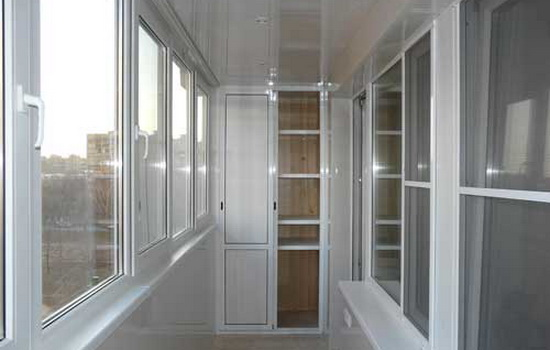 Пример теплого остекления балкона (с применением стеклопакетов)