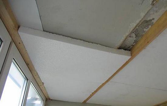 Пример утепления потолка пенопластом