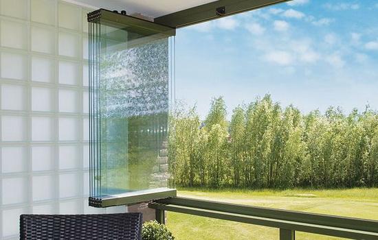 Система открытия окон финского балкона