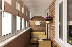 Описание вариантов внутренней отделки балкона